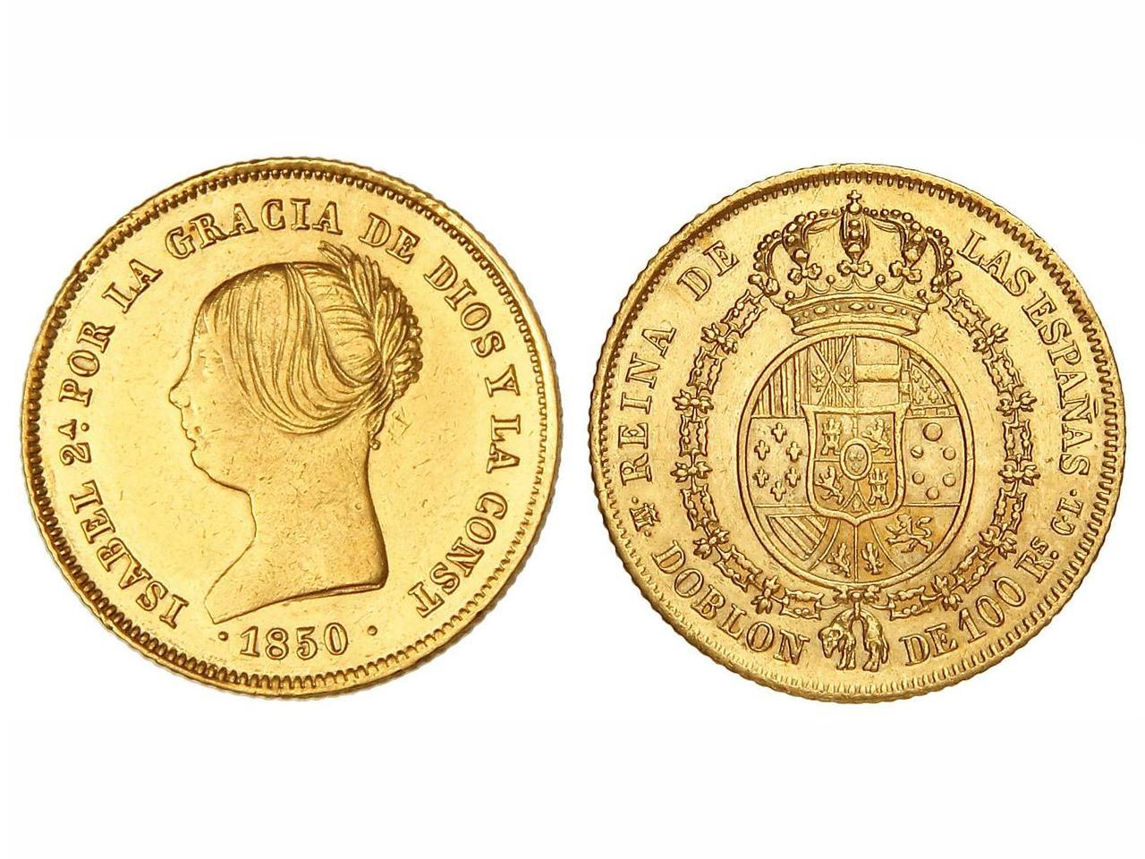 Doblón de 100 reales 1850. Isabel II. Madrid. CL X6lpww