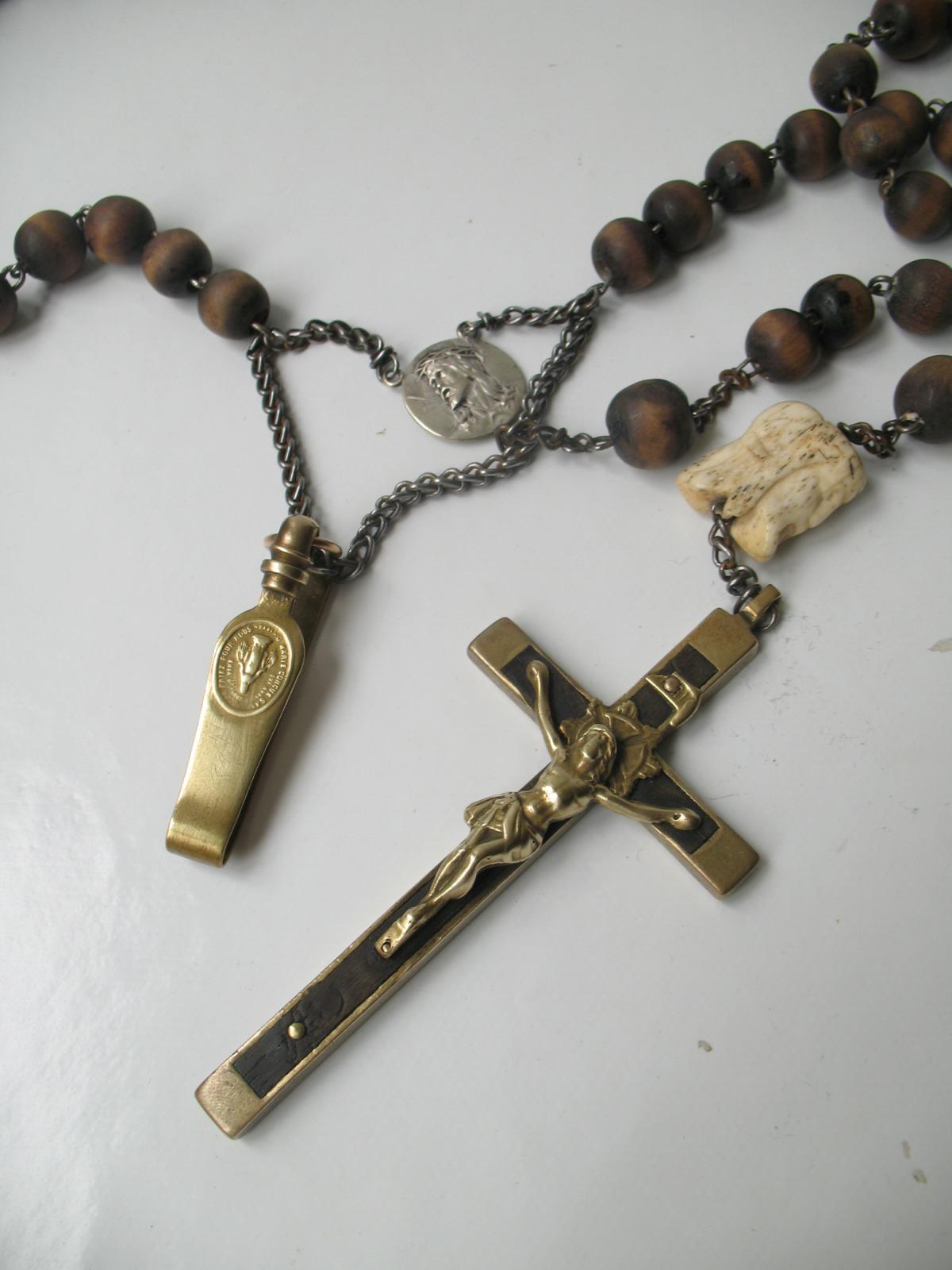 """Rosario de religiosa """"MEMENTO MORI"""". 10dxrub"""
