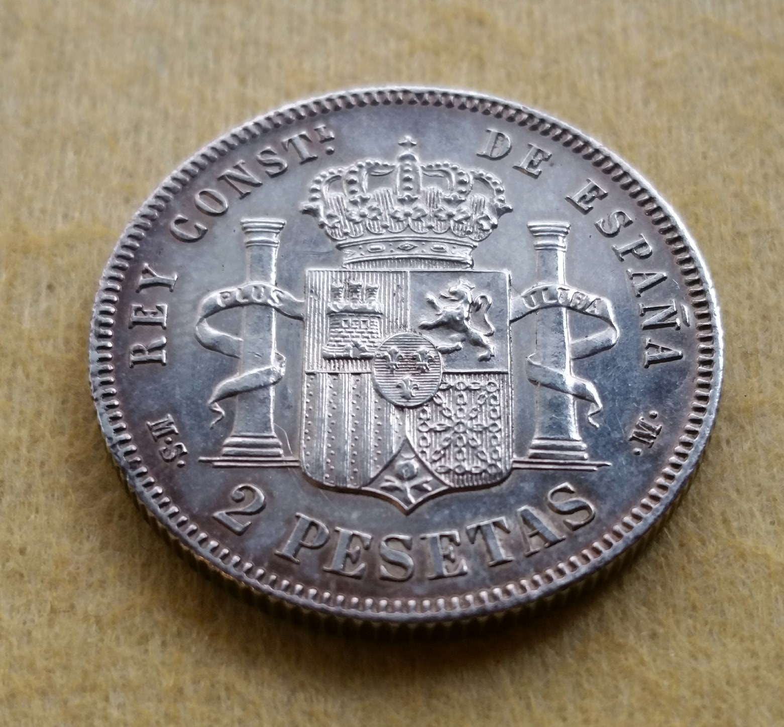 2 PESETAS ALFONSO XII 1881  10fow3a