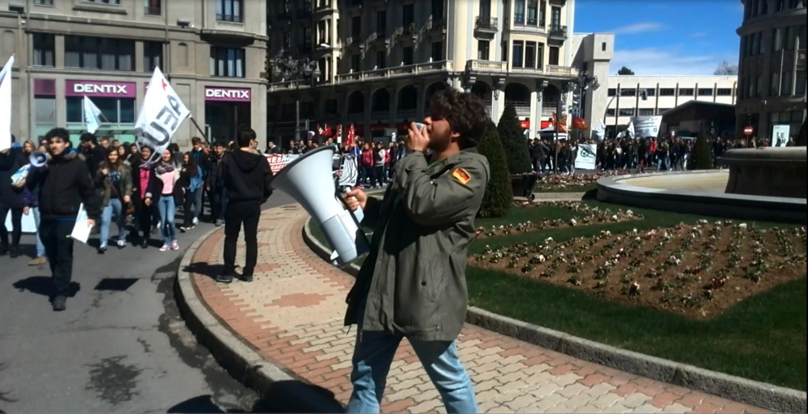 Banderas en las manifestaciones. 110lpjq