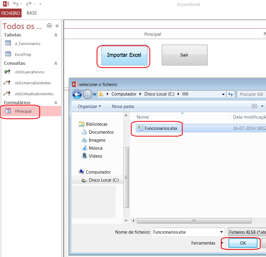 [Resolvido]Atualização automática na importação Access Excel 117v4o1