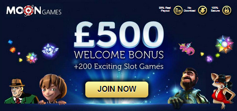 Moongames Casino 100% welcome bonus up to 500£ 11soz0w