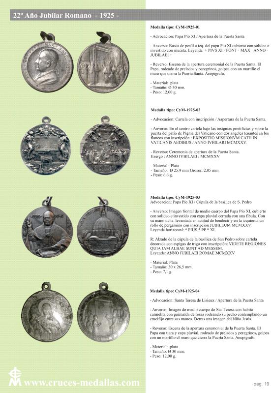 jubilares - Recopilación de medallas con fecha inscrita de los Años Jubilares Romanos  140fb5d