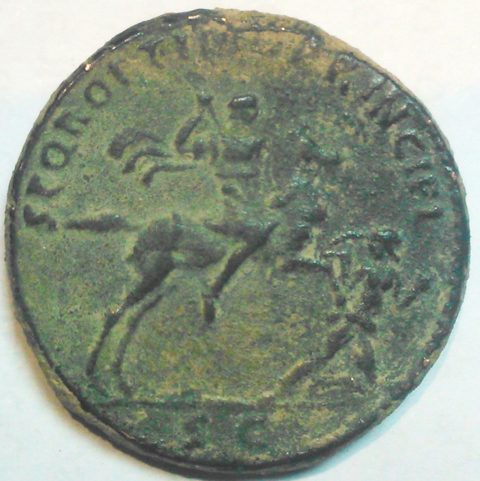Sestercio de Trajano. S P Q R OPTIMO PRINCIPI / SC - Emperador a caballo. Roma 14w95hz