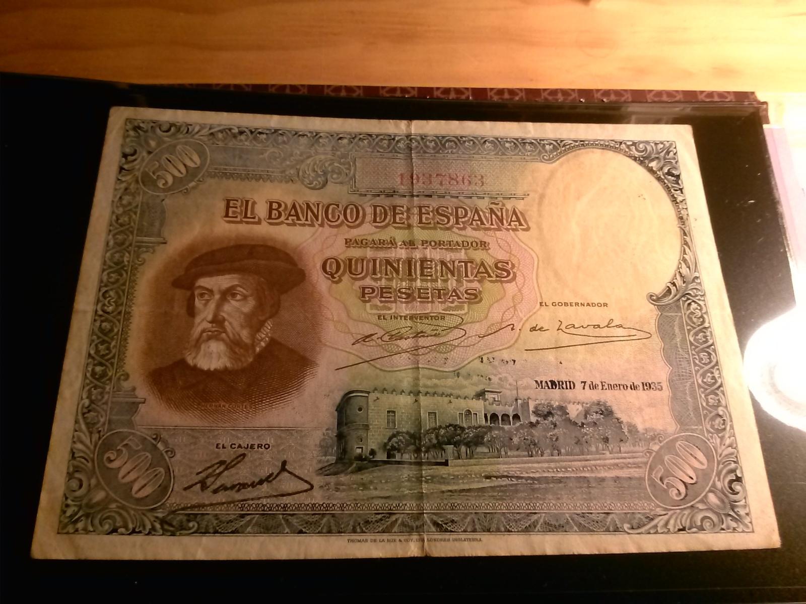 500 Pesetas 1935 - HERNAN CORTES 15frk0l