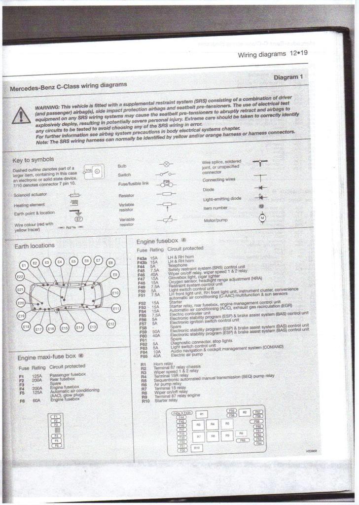 (W203): Diagrama de fusíveis  15ofp7n
