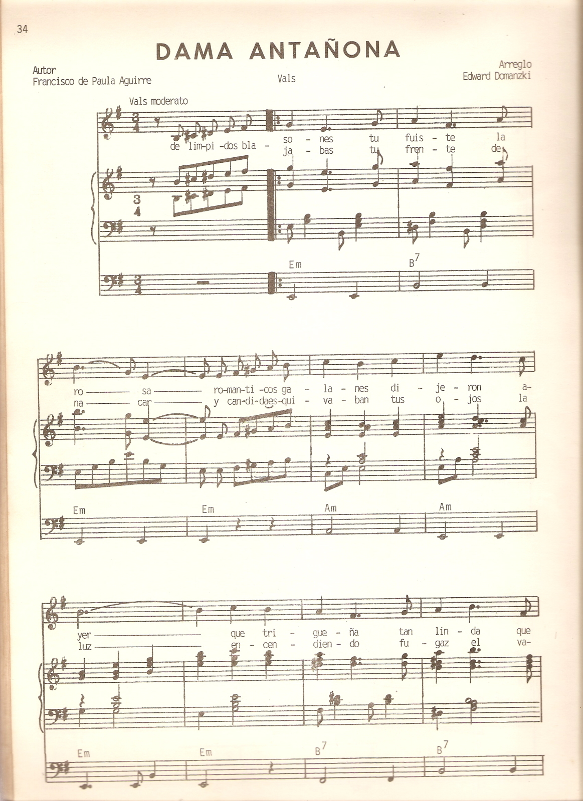 partituras - [Partituras] | Francisco de Paula Aguirre - Dama Antañona 1zo97gh