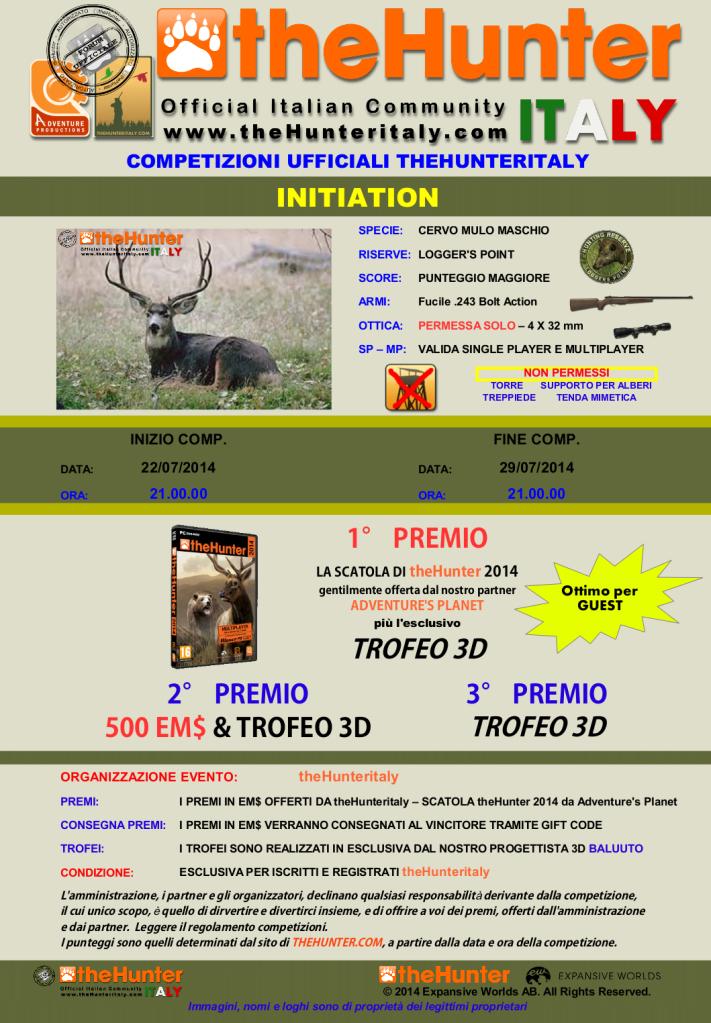 [CONCLUSA] Competizione theHunteritaly - Initiation - Cervo Mulo 20mmwj