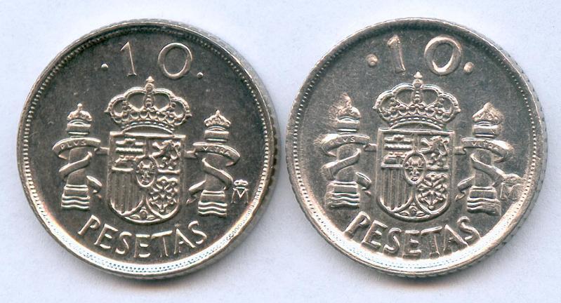 * ERROR * 10 pesetas año 1992 GRABADO MAYOR (REVERSO) 20swpwk