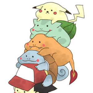 Pikachu,Charmander,Bulbasaur,Squirtle - Pokémon X/Y (N3DS) - por granadas 24641vd