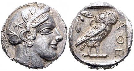 Tetradracma ático. Atenas. 449-413 a.C. 25re6q9