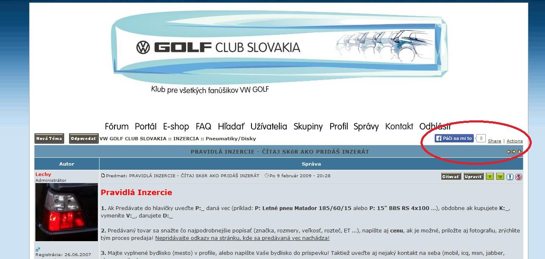 VW GOLF CLUB SLOVAKIA - Portál 2em1ith