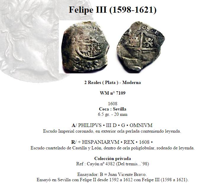 2 reales sevillanos de Felipe III 2epq5p3