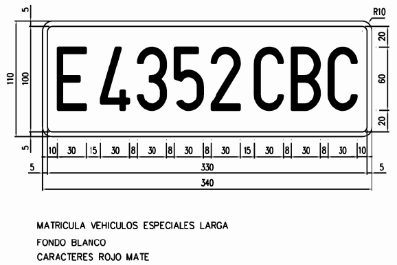Placas de matrícula 2hrptmp