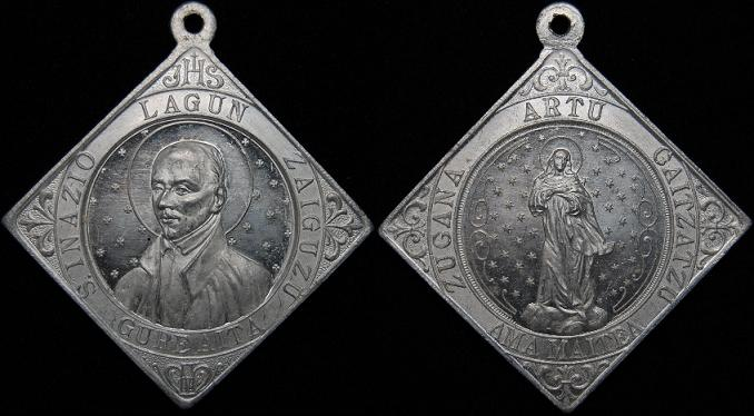 Medalla vasca San Ignacio de Loyola 2i11g74