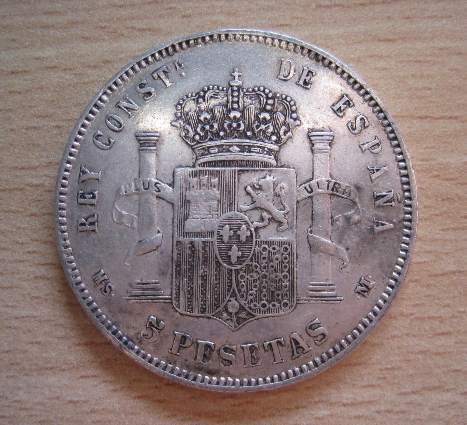 5 Pesetas 1884, Falsa Duro Sevillano 2j64l75