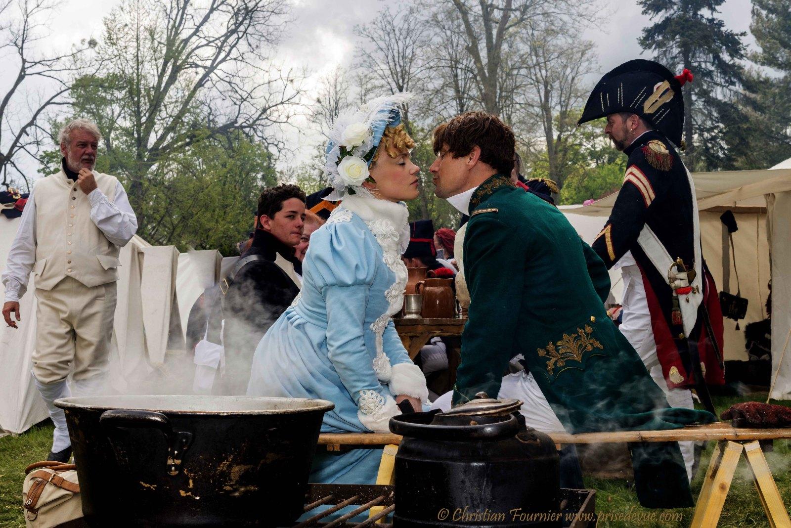 Francia - Fontainebleau (Ile de France) Recreación de la Despedida de Napoléon en 2014 2lmnqjc