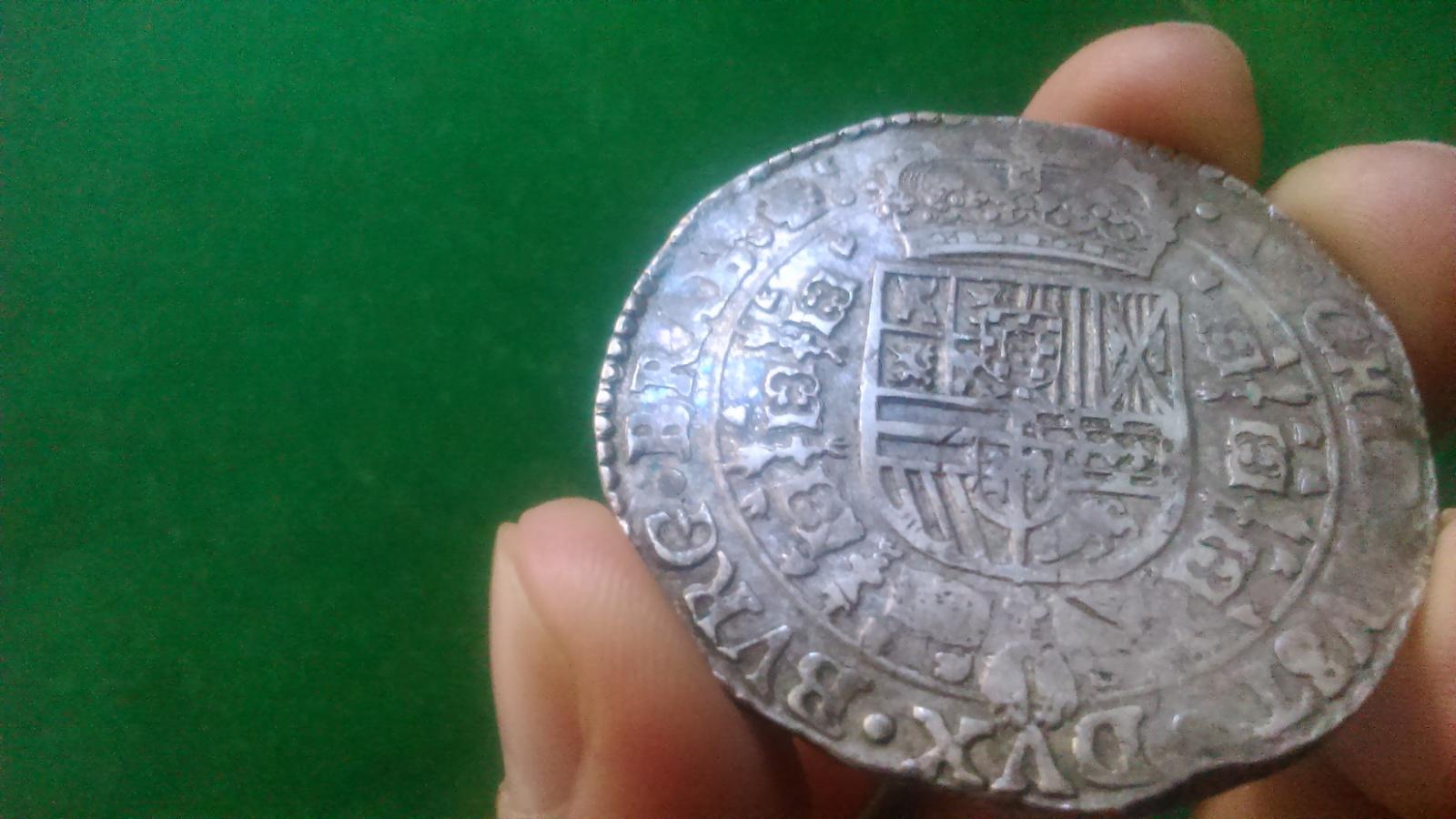 1 Patagón. Felipe IV 1654 Amberes. Dedicada a Lanzarote 2nv4c2p