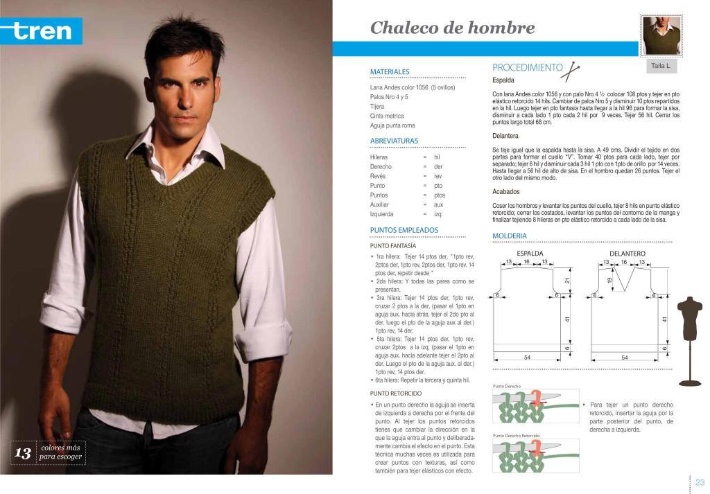 tejido - Algunos patrones de tejido para hombre 2poxfds