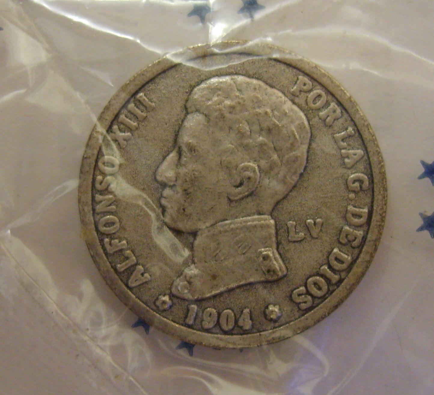 Consulta sobre ejemplar 1 peseta 1904 Alfonso XIII LV-R 2q21tgz