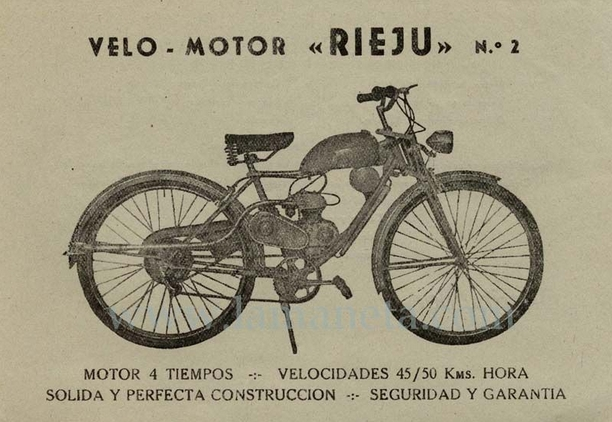 ciclomotor Rieju modelo nº2 2r7lsmg