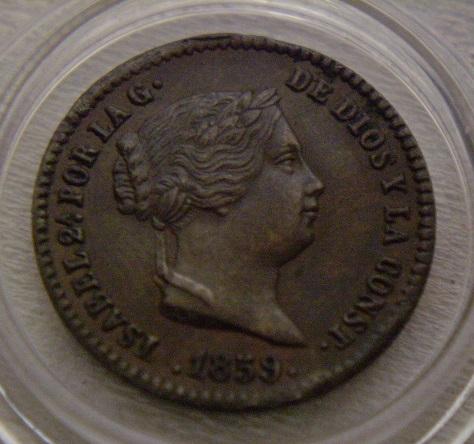 25 CENTIMOS DE REAL DE 1852. ISABEL II. DEDICADA A JAVI. 2rraq1x
