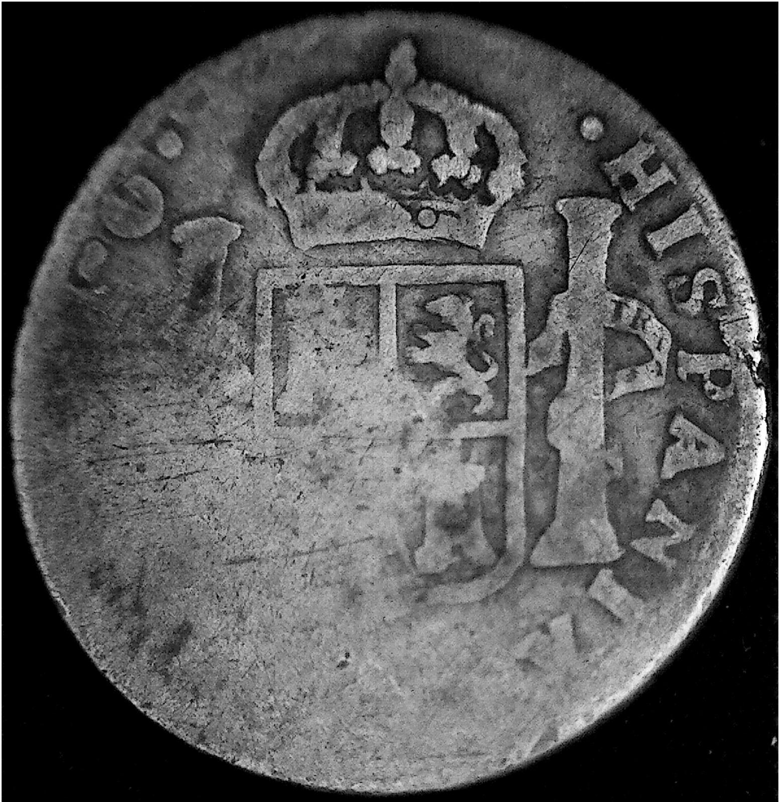 2 Reales de Fernando VII, Pasto, 1822. 2upw9ec