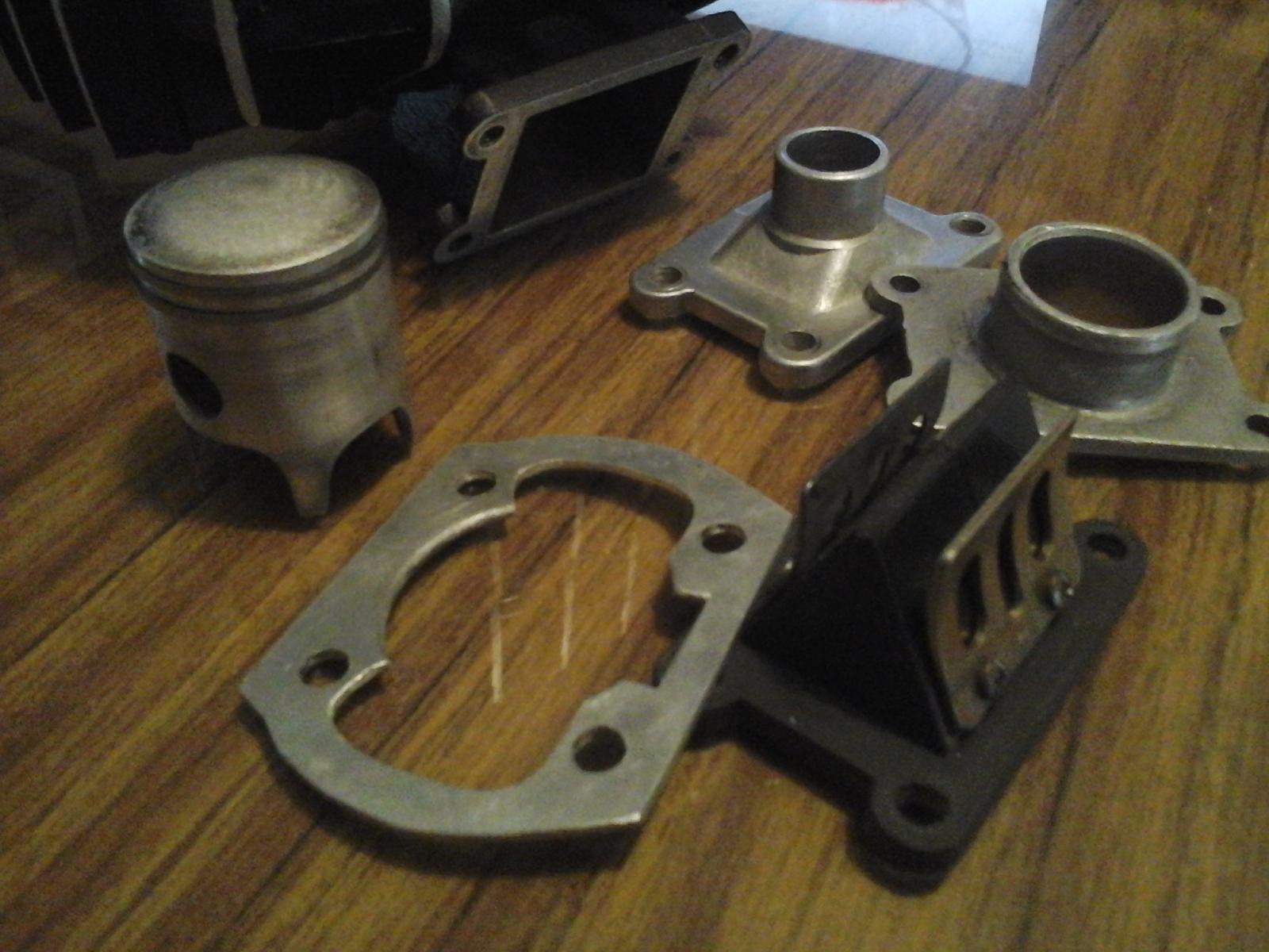 Mejorando cilindro Puch 50 4V 30ii9w1