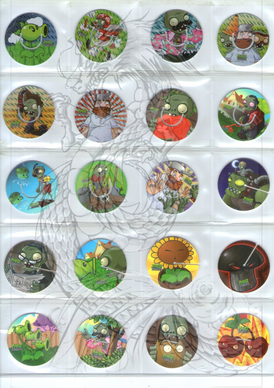 Tazos Plantas Vs Zombies de SABRITAS 30w3td5