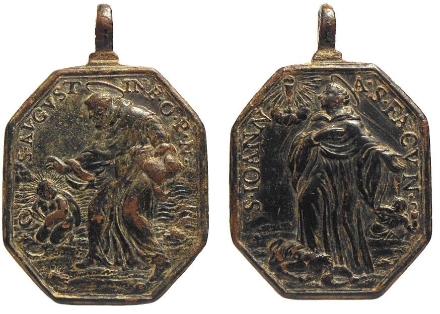 San Agustín de Hipona / San Juan de Sahagún , ( R.M. S.XVII-P105)  ) 33kzuap