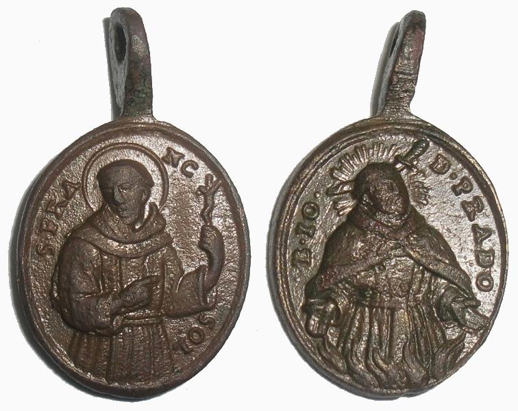 Medalla San Francisco Solano / Beato Juan de Prado (R.M. SXVIII-O274) 33nknpv