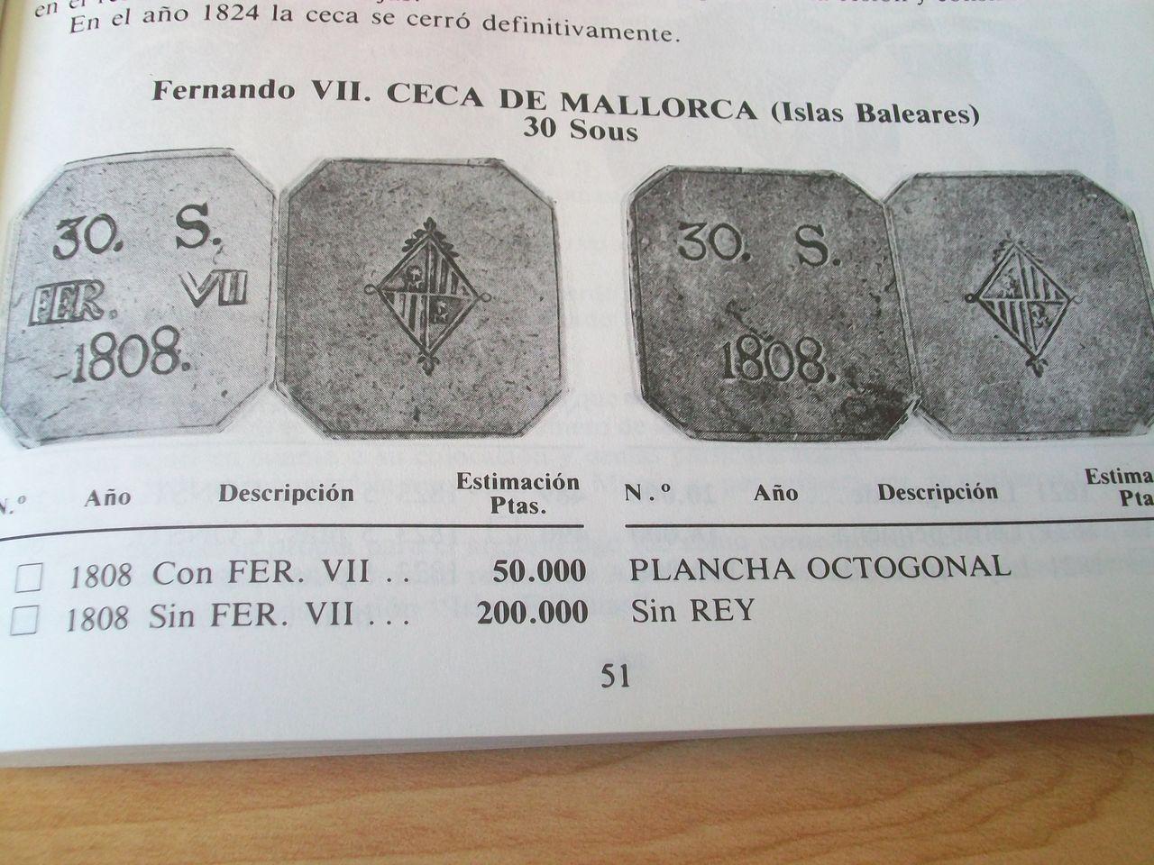 Sobre la variante 30 SOUS octogonal sin la leyenda FER. VII 344sg3l