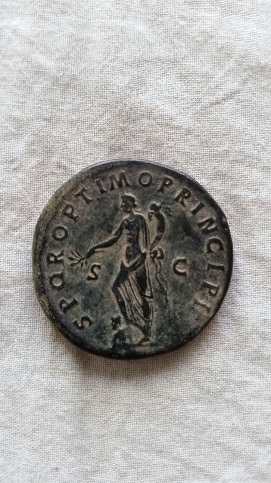 Sestercio de Trajano. SPQR OPTIMO PRINCIPI - S C. Ceca Roma. 5cal3k