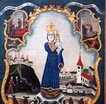 Figurada de S. Maria de la Montaña Sagrada en Pribram (Bohemia) (R.M PFV Sagrada Montaña 1) 6emzpz
