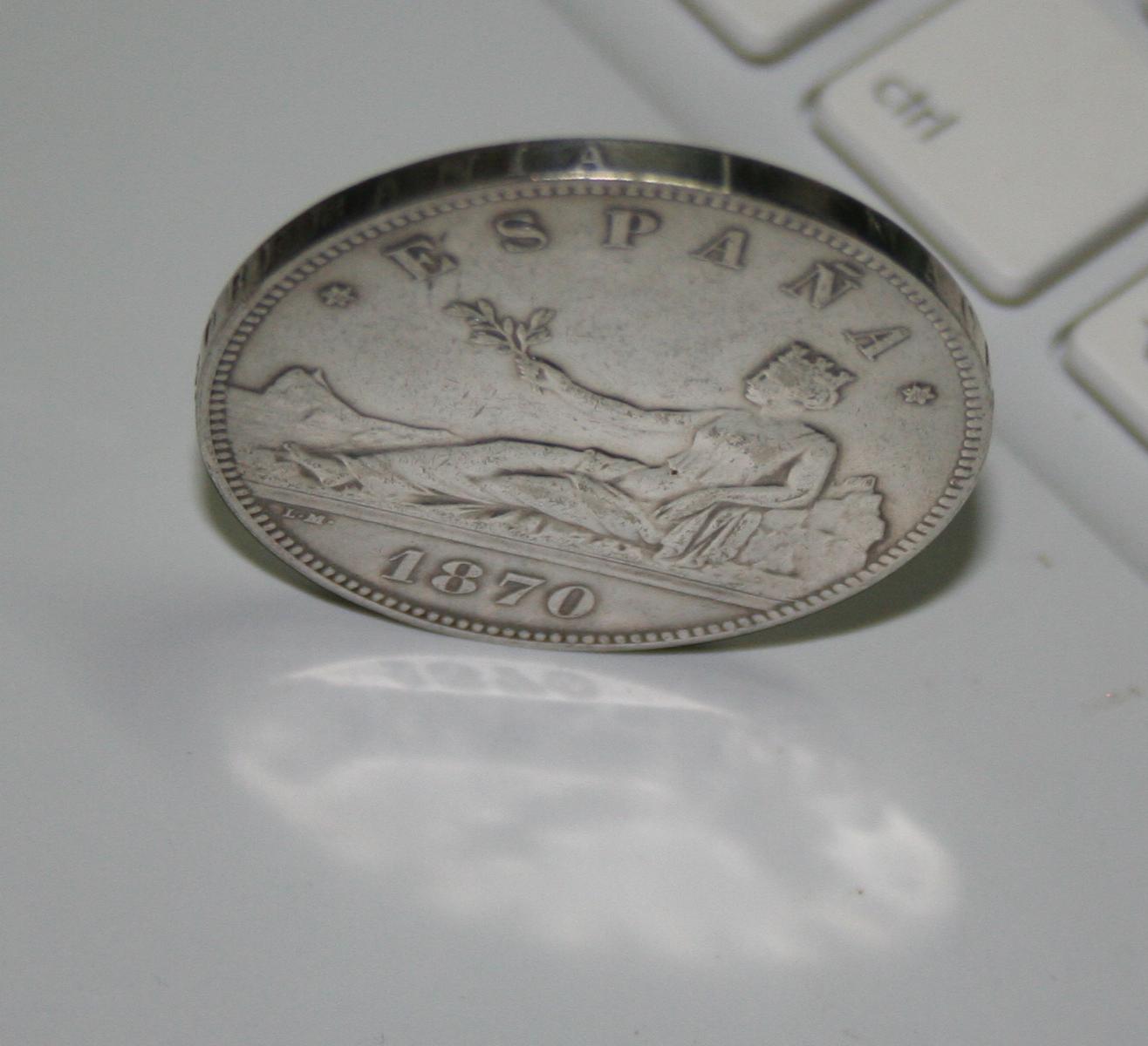 5 pesetas 1870 Falsa de epoca? o ni eso! 6eq6ft