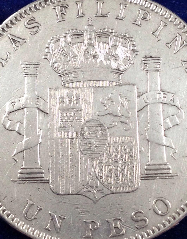 otro Peso 1897 Filipinas 5 Pesetas Manila  6pxnpx