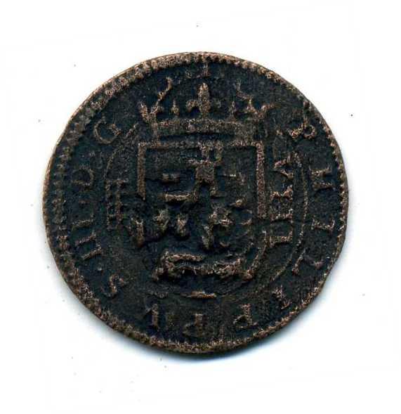 8 Maravedis de Felipe III Segovia 1604 con una reacuñación del anagrama. 9fto4i