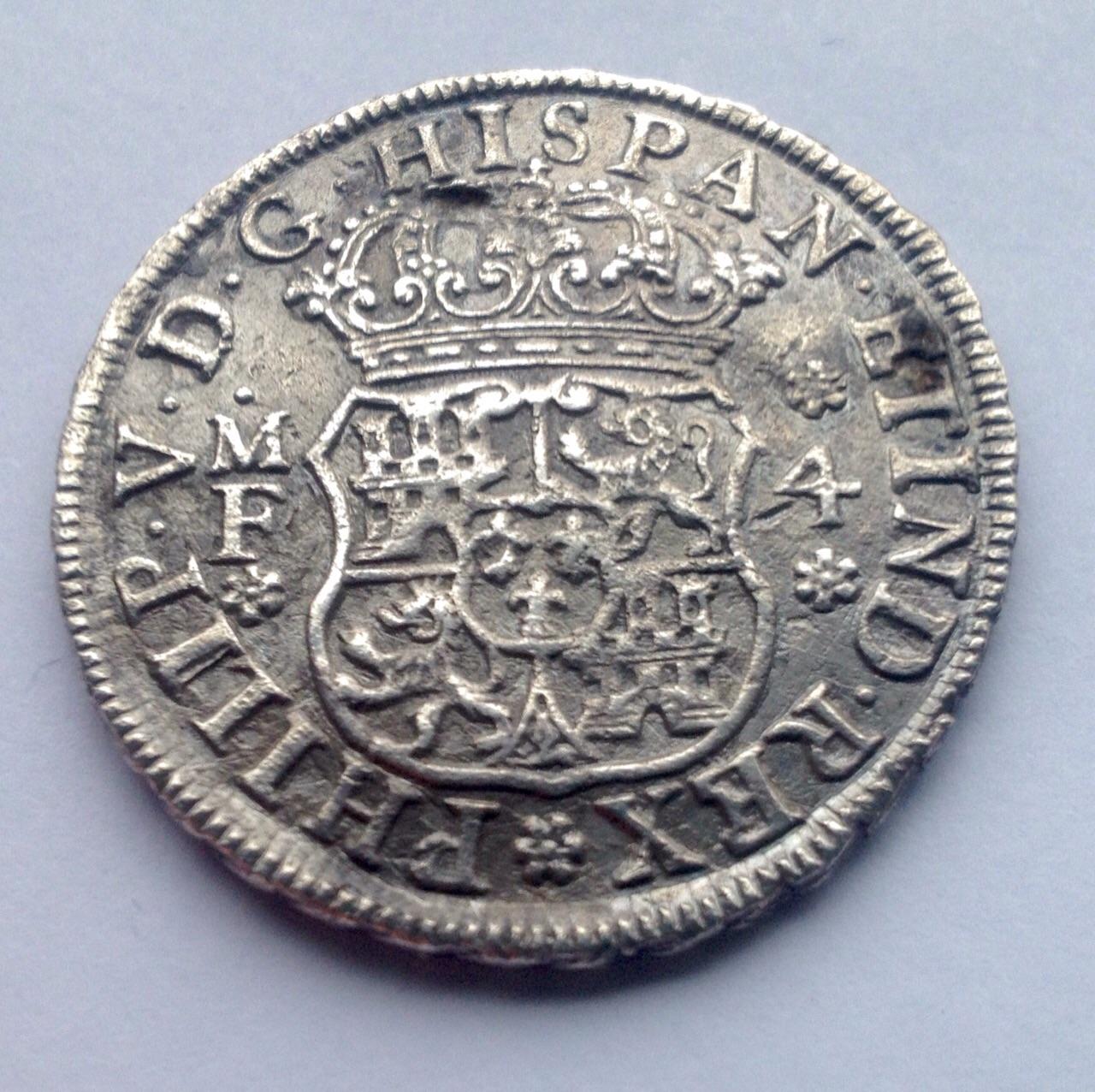 4 reales columnario de 1740. Felipe V, México Fc6txd