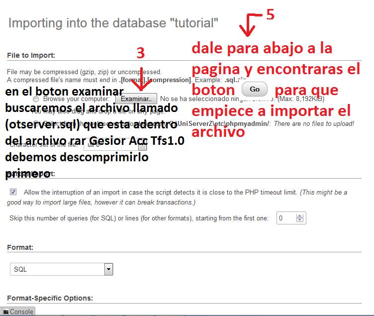 [Tutorial] Como instalar Gesior Acc Tfs 1.0 Con imagenes Paso a Paso Fliwck