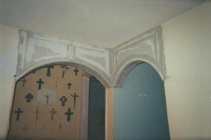 Mueble, gabinete y arcos, hechos con Tablaroca K314yx