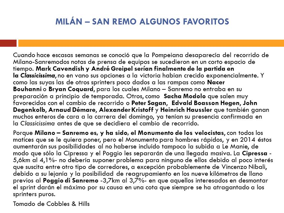 Clásica Milán - San Remo 2014 O9gwf6