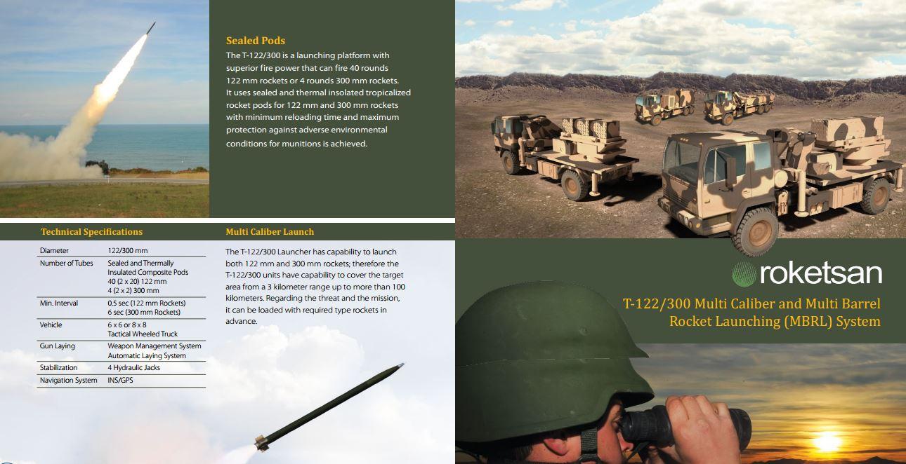 الراجمه T-122/300 اNRA من شركة Rokestan التركيه  R03uc1