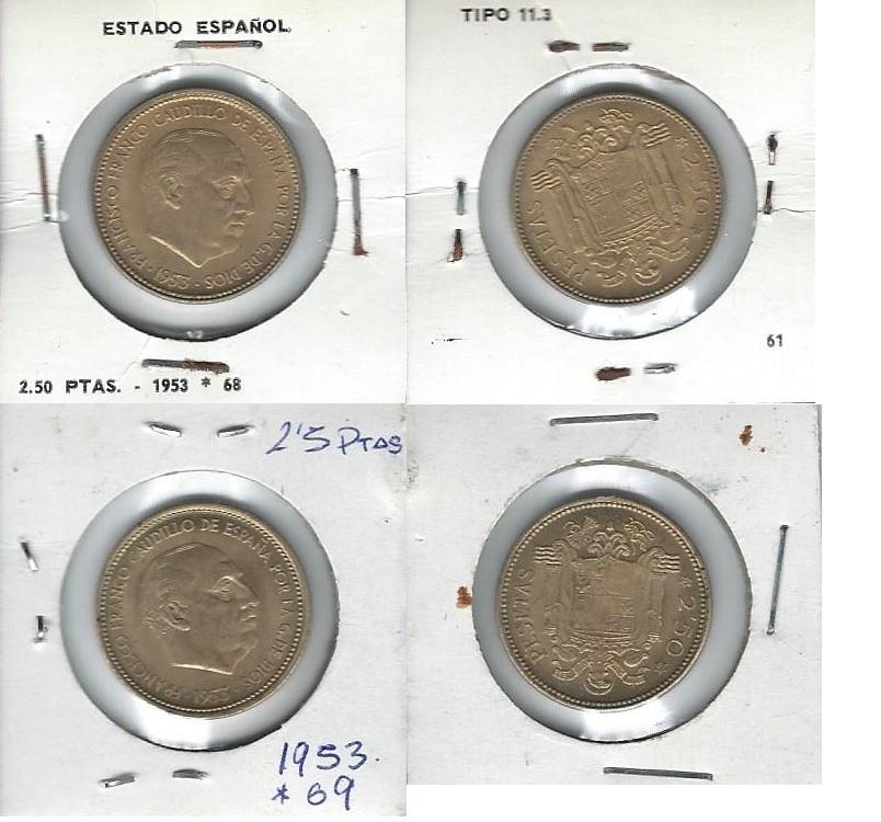 2,50 Pesetas 1953 (* 19-56). Francisco Franco. Estado Español. ¿Esta moneda vale algo? Sdhchv