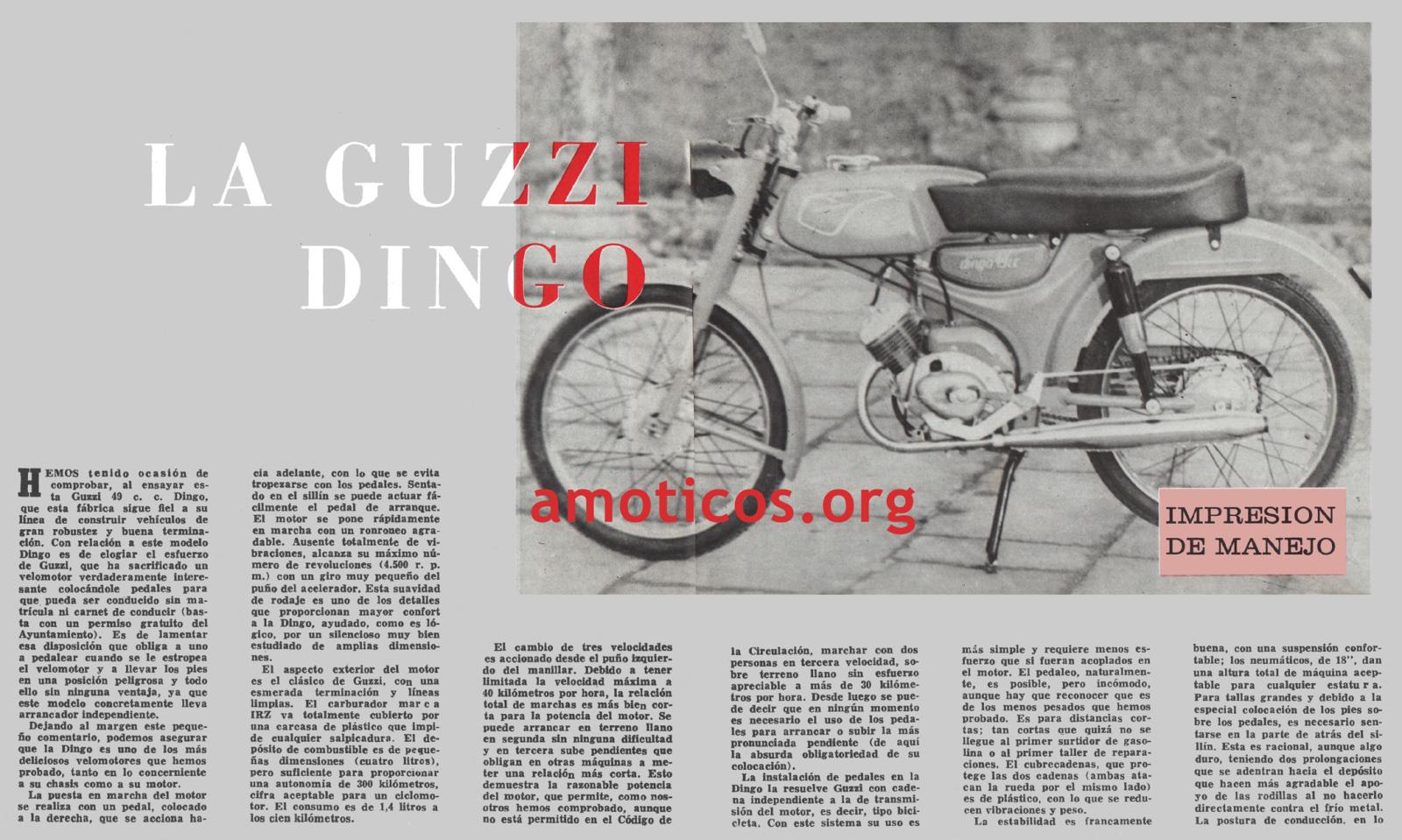 Prueba Guzzi Dingo 49 - 1966 Usxsm