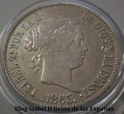 50 Centavos de Peso 1865 Isabel II - Manila.  V8j4tl