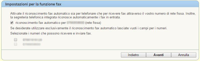 Fritz!Box Fax su 7390 o 7490 Ver9c2