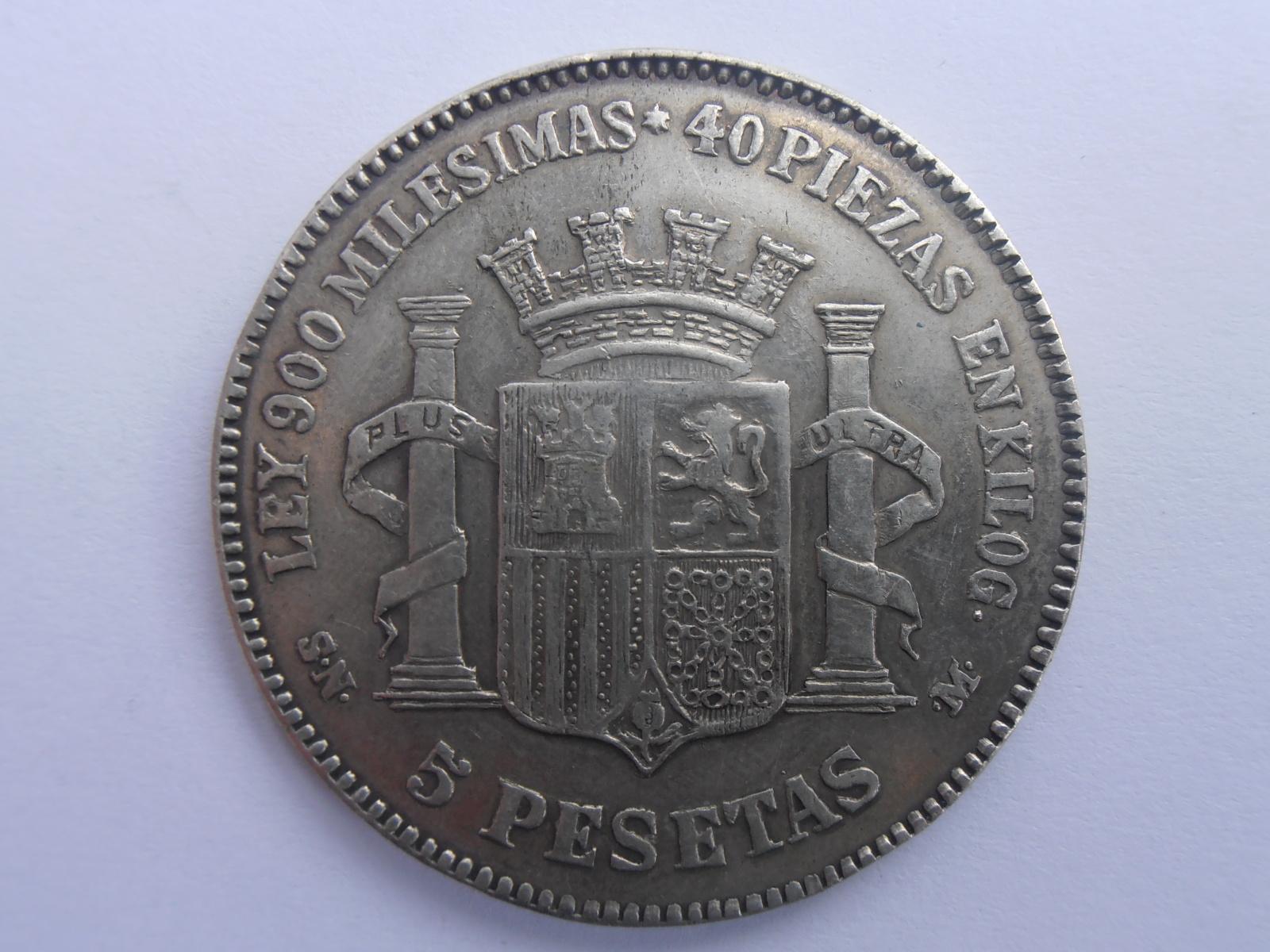 5 Pesetas 1869 Gobierno provisional 118dh21