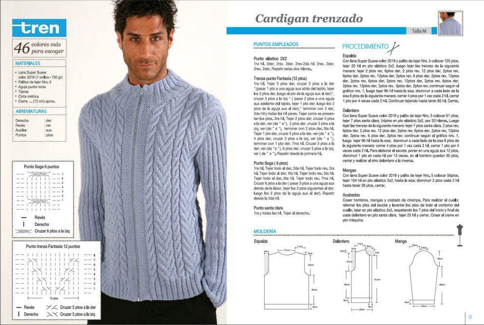 tejido - Algunos patrones de tejido para hombre 14e3shx