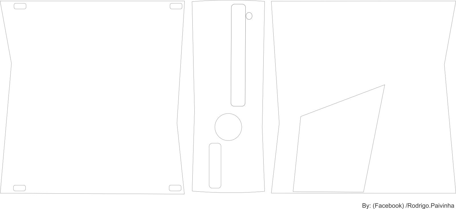 Skin para consoles (medidas, modelo em branco) 1i272f