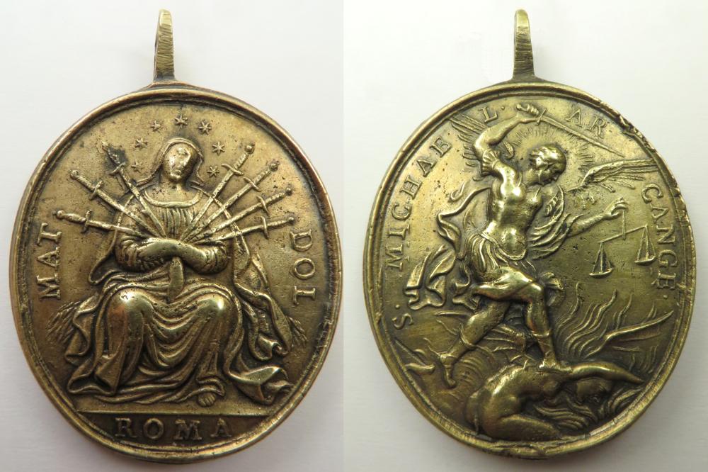 Virgen siete espadas  / San Miguel Arcángel, s. XVIII (R.M. SXVIII-O272) 20p7ynl